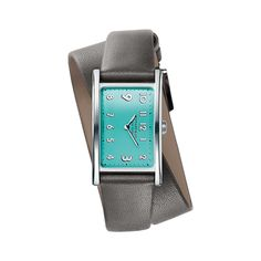Tiffany East West® Mini 2-Hand 37 x 22 mm watch in stainless steel.