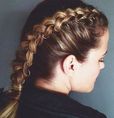 French Braided with Hoops