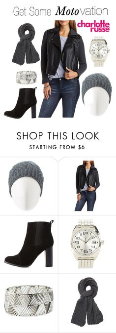 """""""Get Some Moto-vation"""" by charlotterusse ❤ liked on Polyvore featuring Charlotte Russe, Mark & Maddux, women's clothing, women's fashion, women, female, woman, misses, juniors and CharlotteLook"""
