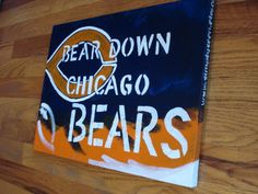 Original Painting for Chicago Bears fans by simplyseen on Etsy. , via Etsy. Wish I knew someone who could paint this on a huge canvas for me!!!