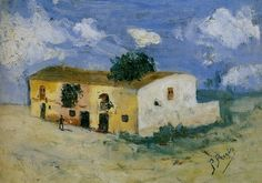 Pablo Picasso. House in the countryside. 1893 year