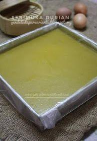 Jom masak: Serimuka durian terlajak sedap, pembuka selera Malaysian Cuisine, Malaysian Food, Dessert Drinks, Dessert Recipes, Cake Recipes, Durian Recipe, Durian Cake, Malaysian Dessert, Pumpkin Dishes