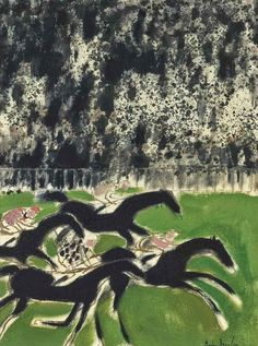 'Course' (1963) by French artist Andre Brasilier (b.1929). via pink pagoda studio