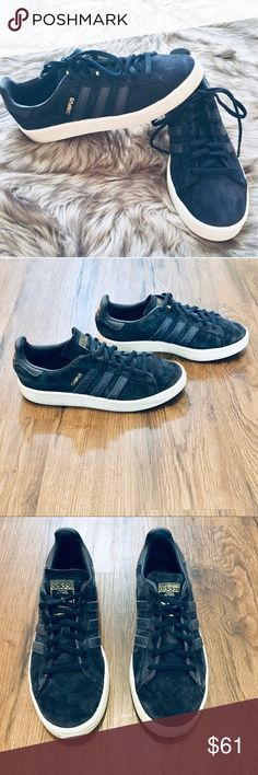 new product ec549 d1692 Sport Shoes · Adidas Campus Classic Suede Sneakers Adidas Campus Classic  Sneakers in Navy Blue Suede with Gold Logo