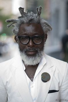 You can try one of these hairstyles for men over 50 that suit your taste and hair condition. Just look at the picture there, and choose which one that will be Grey Hair, Black Hair, Grey Beards, Well Dressed Men, Beard Styles, Silver Hair, Black Is Beautiful, Locs, Black Men