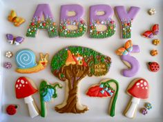 .Oh Sugar Events: Tinkerbell themed cookies
