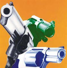 James Rosenquist (American, b. Gun-Play-Guns, Oil on canvas, laid on board, 48 x 47 in. Pop Art Artists, Collage Artists, Collages, Opt Art, James Rosenquist, Pop Art Movement, Claes Oldenburg, Jasper Johns, Arte Pop