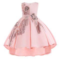7cc830f9fe3c Cotton Lining Baby Girls Dress For Girls Wedding Party Dresses Kids  Princess Summer Dress Children Girls