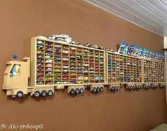 Awesome way to display kid's cars!