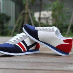 Casual Lac-up Breathable Walking Sneakers - mefashionova Blue Shoes, Men's Shoes, Mens Fashion Shoes, Fashion Accessories, Types Of Shoes, Urban Fashion, Casual Shoes, Nike, Sneakers