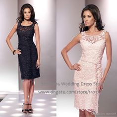 Vintage Knee Length Lace Short Mother Of The Bride Dresses Beaded Sash Sheath Women Black Pink Evening Gowns 2015 M2026 Plus Size Mother Of The Groom Dress Tea Length Mother Of The Bride Dresses Plus Size From Store005, $120.42| Dhgate.Com