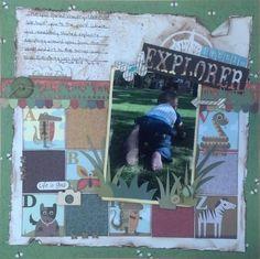 Scrapbooking Layout: Little Explorer - Scrapbook.com