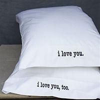 lovey dovey pillowcases ;-)