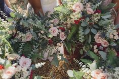 Gwenda's amazing bouquets - 'Bohotanicals' - such gorgeous tones and Eucalyptus is such a brilliant leaf to use.