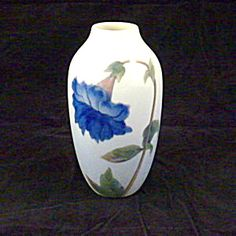 Royal Copenhagen Vase, Single Large Flower Decoration.