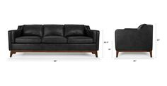 Worthington Oxford Black Sofa - Sofas - Article | Modern, Mid-Century and Scandinavian Furniture