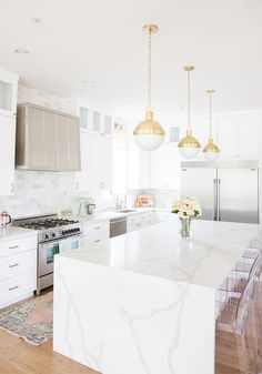 Modern Kitchen Remodel Before And After Transformation All White Cabinets