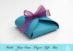 Make your own paper gift box (with a link to the free template).