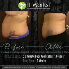 Amazing results using the skinny wraps! #health