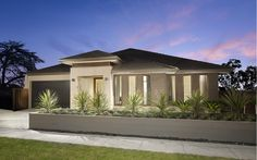 Metricon facade colours, retaining wall and landscaping