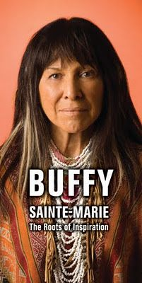 One of the most inspiring musicians ever to grace my path.  Buffy Sainte Marie is part Cree and MicMac Indian and is one of the very few American Indians to make a name for herself in the Music Industry, education and activism.