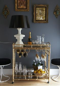 LOVE the bar cart, so need one of these