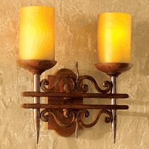 Rustic Scroll Double Wall Sconce