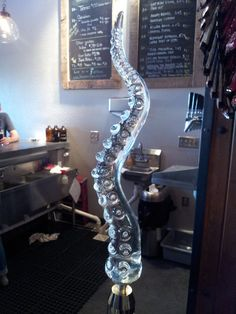 Beer Tap Octopus Tentacle Glass sculpture Beer Tap.  AWESOME.  and very expensive.  but AWESOME.