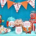 carnival birthday party- twins 1st birthday