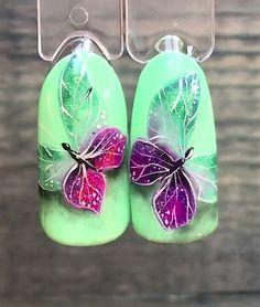 Butterfly Nail, Flower Nail Art, New Nail Designs, Acrylic Nail Designs, Nailart, Spring Nail Art, Luxury Nails, Christmas Nail Designs, Finger