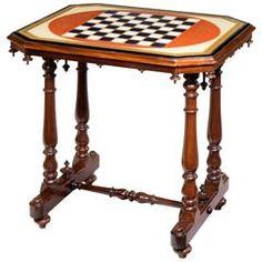 Regency Period Games Table with an Eglomise Top
