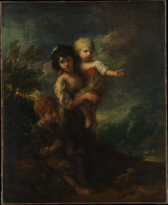 Thomas Gainsborough (British, 1727–1788). Cottage Children (The Wood Gatherers), 1787. The Metropolitan Museum of Art, New York. Bequest of Mary Stillman Harkness, 1950 (50.145.17) #kids
