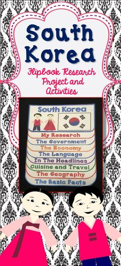 This fun, interactive flippable is a great tool to guide students through a research project featuring South Korea. Using this non-threatening format, students will move through basic fasts to higher level thinking on their topic. Also included: a mapping activity, a recipe activity, a Korean language comic strip writing prompt, a brochure project, and a traditional dress art and writing activity.