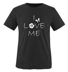 Comedy Shirts - I LOVE ME - children T-Shirt camiseta - negro / blanco tamaño 86-92 #camiseta #friki #moda #regalo