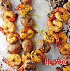 Kebabs are the best. Put 1 potato and 1 shrimp on a short skewer and serve Curried Shrimp and Potato Kebabs as appetizers. The full-sized ones can be served on pitas as sandwiches or on top of steamed vegetables.