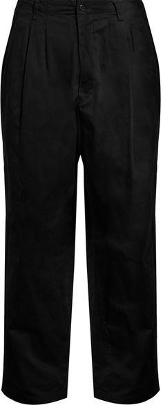 YOHJI YAMAMOTO Wide-leg cotton-gabardine trousers