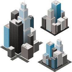 Isometric Cities Vector Art 165809775