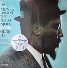 """Front cover of Thelonious Monk's MONK'S DREAM album 1963 with promotional """"New Star on Columbia"""" sticker."""