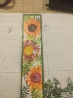 Stampin' Up! Bookmark. Painted Harvest