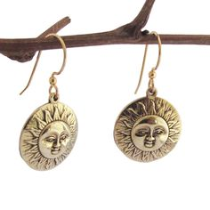 Spirit Tribal Fusion 'Here comes the Sun' Medallion Earrings Women's