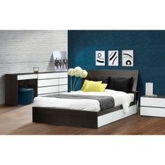 Allure Storage Platform Bed Image 1