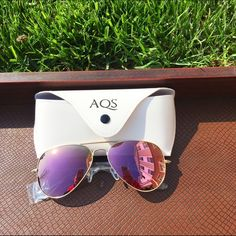 MDW SALEBlush Pink AQS Aviators NWT & case. AQS aviator sunglasses. Pink mirror plastic lenses, gold metals frames. Measurements: 58mm eye, 14mm bridge, 145mm temple. Comes with cleaning cloth & case. Reasonable offers welcome! Bundle discount available!(20% off 3+ items) No trades/off Posh transactions/modeling AQS Accessories Sunglasses