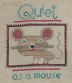 Garden Grumbles and Cross Stitch Fumbles: A Mouse and a Walk in the Woods