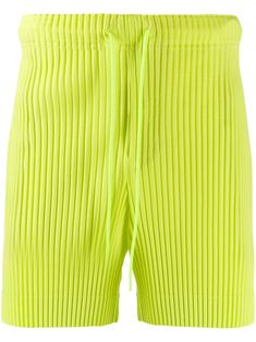 Pleats Please Issey Miyake Homme PlissÉ Issey Miyake Pleated Track Shorts - Green Issey Miyake Men, Baby Design, Women Wear, Slim, Mens Fashion, Shorts, Fashion Design, Outfits, Clothes