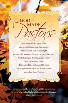 "Bulletin 11"" - Pastor - God Made Pastors (Pack of 100)"
