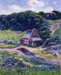 Moret, Henri, (1856-1913), Farm at Doelan
