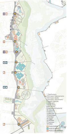 DARP, mención honrosa en concurso de ideas del Parque Juan Amarillo en Bogotá,Espacios recreativos. Image Cortesía de DARP Landscape Diagram, Landscape And Urbanism, Landscape Plans, Landscape Design, Urban Design Diagram, Urban Design Plan, Architecture Collage, Architecture Graphics, Urban Mapping