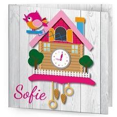 Kisscards I gezellig geboortekaartje met koekkoek