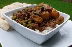 Lamb with Potatoes and Peas