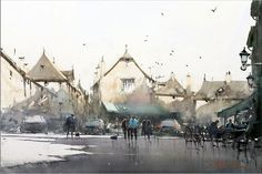 Joseph Zbukvic   な空気感が心地よい、美麗な水彩画14枚(Joseph Zbukvic ...
